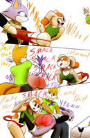Blaze and Cream, wedgies and punishment by the-killer-wc