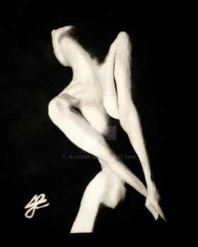 Nude painting by Jeja1995