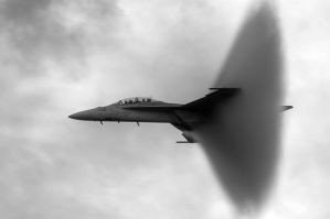 Super Hornet Shockwave by aviationbuff