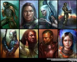 NWN portraits 1 by mikernaut