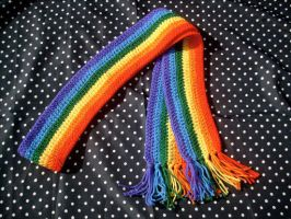 Skittles Scarf by couldvebeendifferent