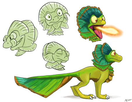 Underbrush Gecko sketches by MightyRaptor