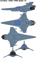Colonial Viper Viper Mark VII by bagera3005