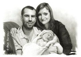 Ivory black pencil portrait - Avec eux by ArtisAllan