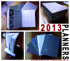2013 Planners by cornfelsic
