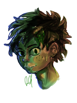 Izuku headshot by JAM3RSON