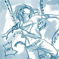 Daily Sketch - Yumi and The Tentacles Attack by mohdsyukri83