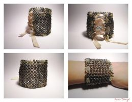 bracelet beads'n'ribbon by Sizhiven