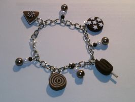 Bangle with sweets fimo by bimbalove81