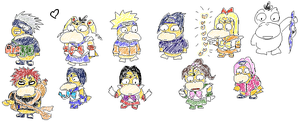 Psyduck Characters by rockingenton