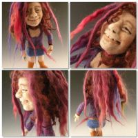 Janice Joplin needle felted by FeltAlive