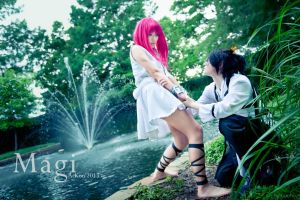 Hakuryuu Proposes to Morgiana Magi Cosplay,HakuMor by firecloak