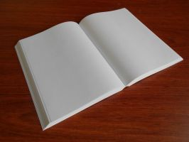 Blank book free stock 14 by DavidSerret