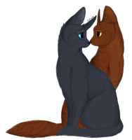 Bluefur and Oakheart by KZcat