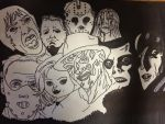 Classic Horror (Sharpie/Pen) by thisiscray