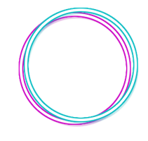 Neon Blue and Purple Circles/Batons by MaddieLovesSelly