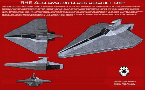 RHE Acclamator-class assault ship ortho [New] by unusualsuspex