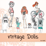 Pack Vintage Dolls by Tutoriales-Sochy