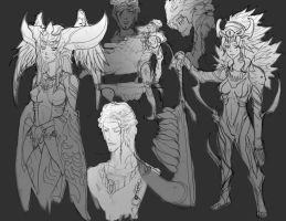 Gilgamesh Rough Sketch Dump by DeadXCross