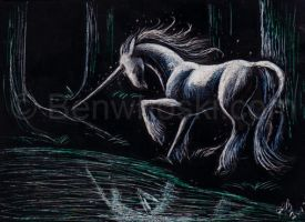 ACEO Bright spot in a Dark Forest by benwhoski