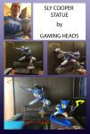 Sly Cooper Statue by shinragod