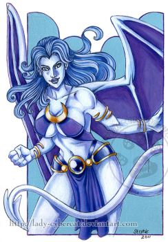 Lady of the Mists : The White Gargoyle by lady-cybercat