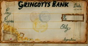 The Gringotts Bank Cheque-2005 by prachi-c