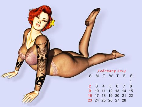 Pinup Number Twenty-Three:Calendar Girl (February) by wcpelon