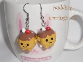 Pudding tofu earrings by pikhachu
