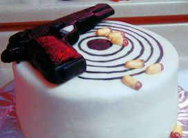Colt 1911 .45 Cake by DarkMindsEye