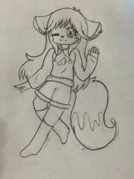 Minela in furry style by MelonaAngle