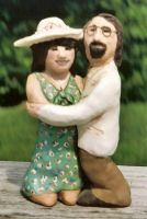 Our Wedding Cake Topper by onionhead1