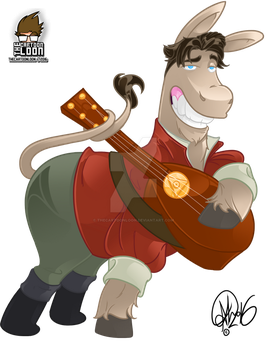 Bard Donkey by TheCartoonLoon