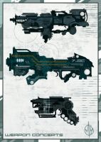 Speedpaint Weapon Concepts by JustMick