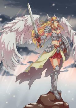 COMMISSION: VALKYRIE by papillonstudio