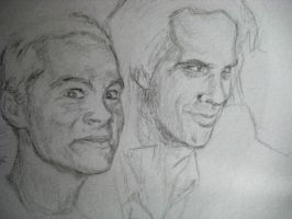 Nick Cave and Dylan O'Brien by Mitsuukii