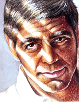 George Clooney by Chicken-Priestess