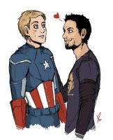 SteveTony by VioletDragonSlayer
