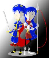 Marth and Caeda by ratscout