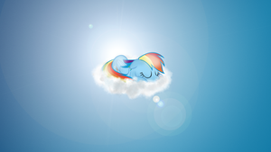Sleepy Dashie - Wallpaper by Zoekleinman