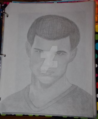 Progress on Taylor Lautner drawing  #2 by Ladybug1985