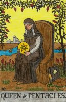 Queen of Pentacles by Fernoll
