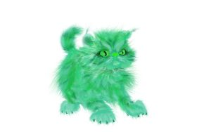 Green Kitty by lucy-fur