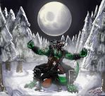 Commission- Rites of the Northern Full Moon by LusoSkav