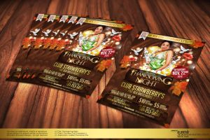 Thanksgiving Night Party Flyer by Gallistero