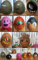 Nintendo themed Easter Eggs 2012 by Vejit