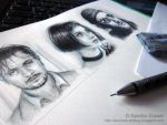 Leon - The Professional ~ Character Cards SKETCHES by Sadako-xD