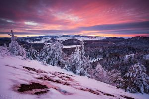 Winter sunset from the Puy de la Vache by MaximeCourty