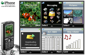 iPhone theme for SE K750 by Vivonl