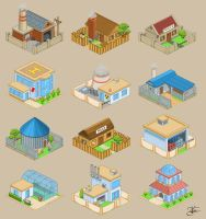 Vector houses by Goramitrio